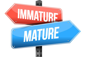 immature mature road sign illustration design over a white background